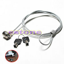 PC Laptop Notebook Computer Security Lock Chain Solid Steel Cable Key