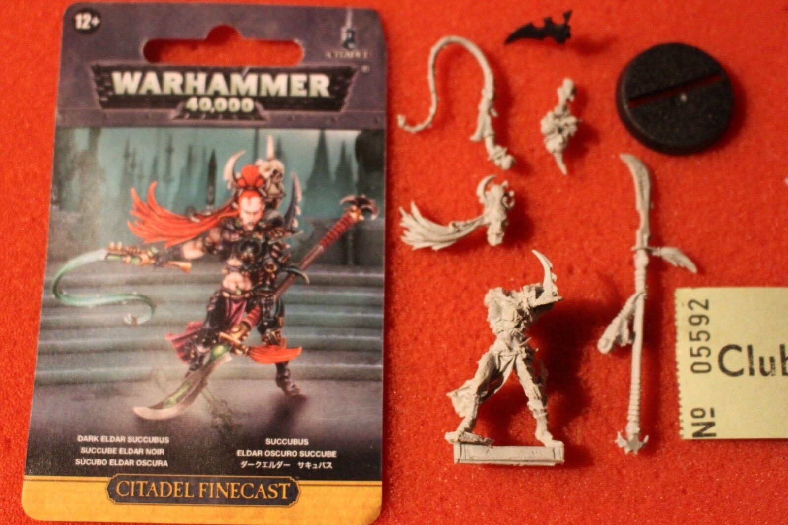 Games Workshop Warhammer 40K Dark Eldar Succubi Wych Succubus New Finecast WH40K