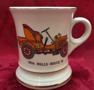 Rolls Royce 1904 10 C 737 Mustache Cup Shaving Mug Gold Trim Ebay
