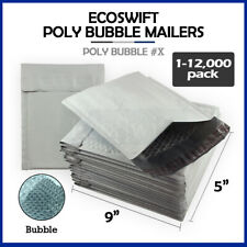 1 12000 X 5x9 Ecoswift Poly Bubble Mailers Padded Shipping Envelopes 5 X 9