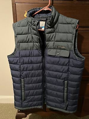 Details about  /NEW Columbia Puffer Vest Jacket Men/'s Blue Size S-M