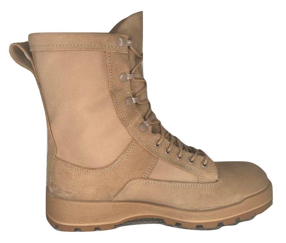 Dept of Defense 36100 Desert Desert Desert Tan Waterproof GTX Temperate Weather Combat stivali 62260f
