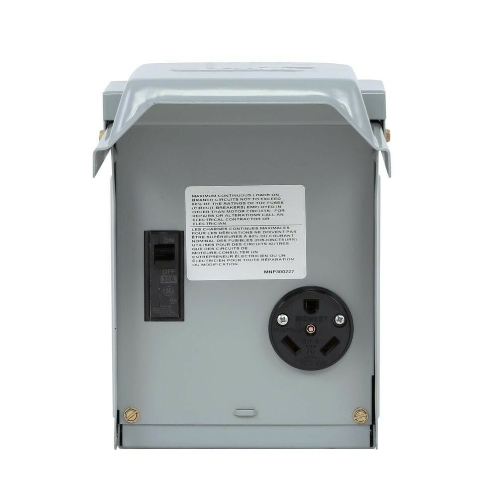 New Power Outlet with Breaker 30 Amp Temporary RV Elect