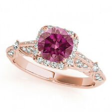 0.81 Carat Fancy Color Pink Diamond Ring 14k Rose Gold Valentineday Spl. Sale