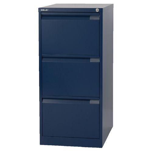 3 Drawer Professional Bisley Steel Filing Cabinet Blue A4 For Online Ebay