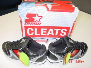 NWT-Boys-Girls-Unisex-Baseball-Sport-Cleats-Starter-NIB-UNused-Unworn-Black-Run
