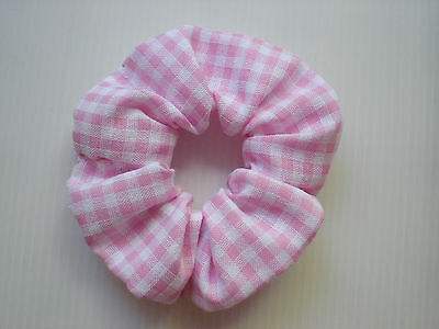 Hair Scrunchie, Satin & Fabric Gorgeous Coloured, Colour Choice - Band Loop Tie