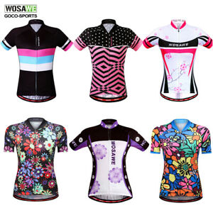 Cycling-Jerseys-Short-Sleeve-Breathable-Bike-Ladies-Tops-Bicycle-Shirt-Womens
