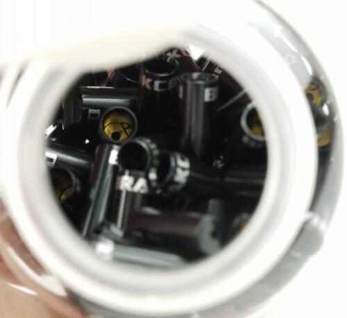 10 PCS CNC ALLOY 4MM SEALED END CAPS lined ferrules SHIFTER DERAILLEUR HOSE BLAC