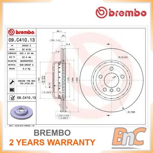 1 Disque de frein Brembo 09.c406.13 two-piece Discs Line Convient à BMW