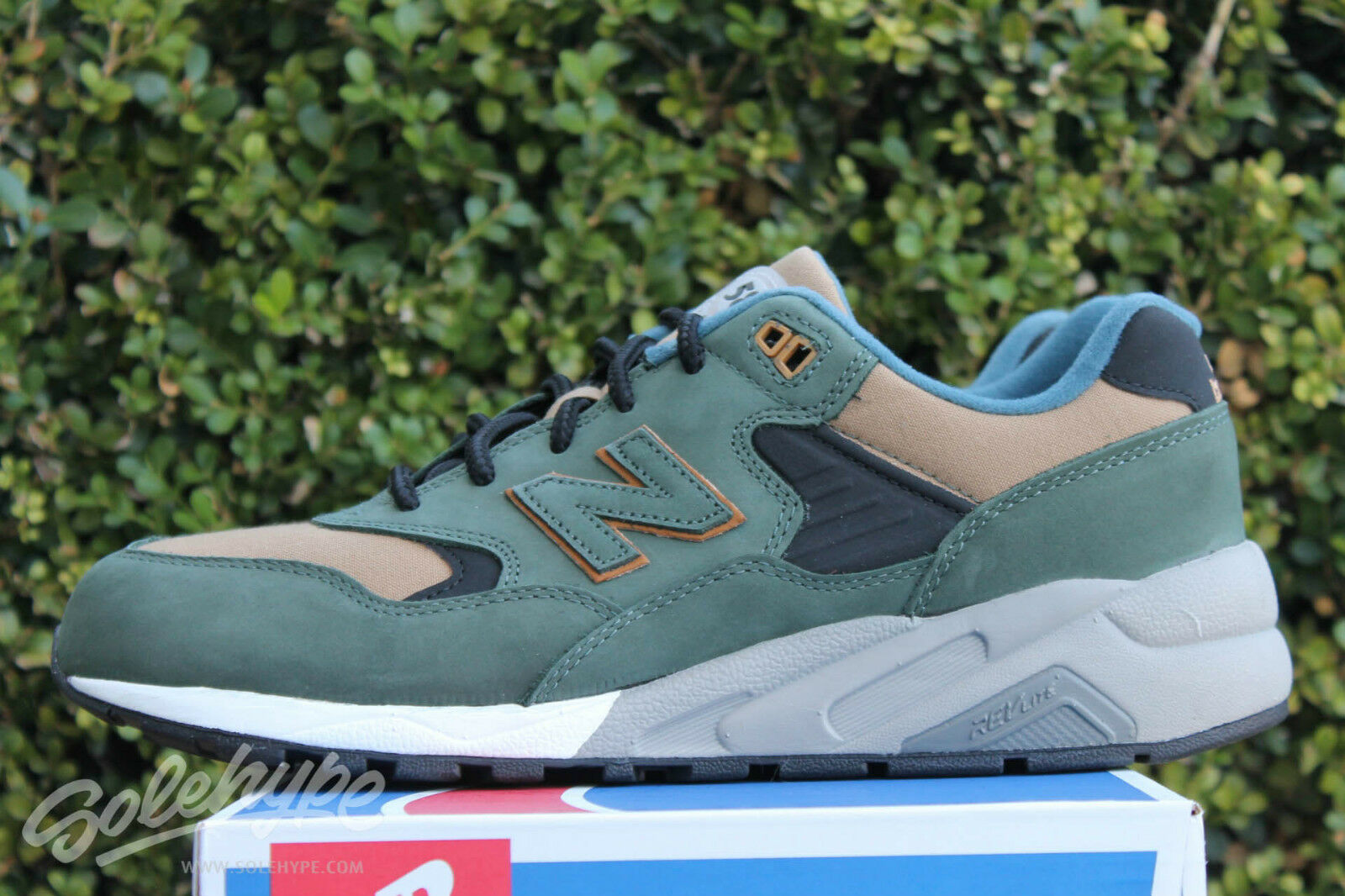 MITA SNEAKERS X NEW BALANCE 580 SZ 7.5 DOUBLE DIME YELLOW OLIVE MRT580KC