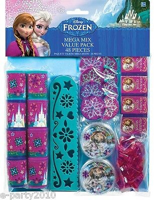 DISNEY FROZEN FAVOR PACK (48pc) ~ Birthday Party Supplies Toys Stationery Elsa