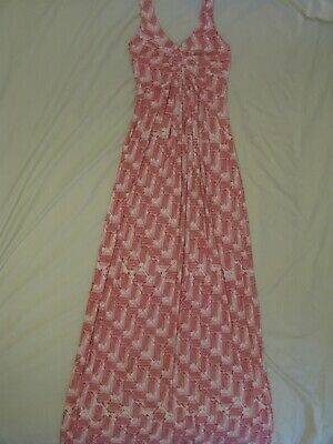 TART Collections 'Tonia' Red & White Maxi Dress Sz S