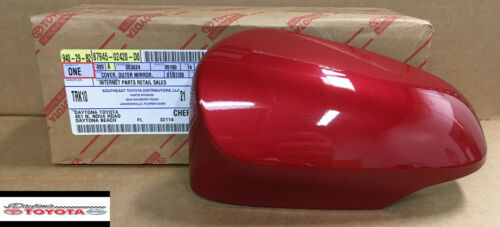 OEM TOYOTA 2014-2019 COROLLA OUTER MIRROR COVER DRIVER SIDE BARCELONA RED