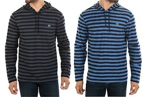 Lacoste Men Fashion Casual Stripe Hooded Pullover Hoodie Sweater Top Shirt