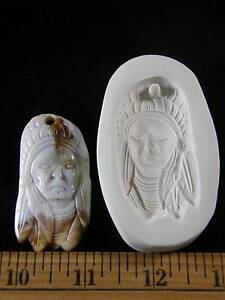Indian Chief Face Polymer Clay Mold (#MD1282)