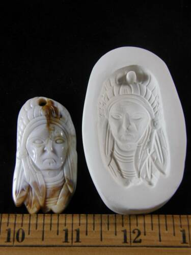 Indian Chief Face Polymer Clay Mold #MD1282