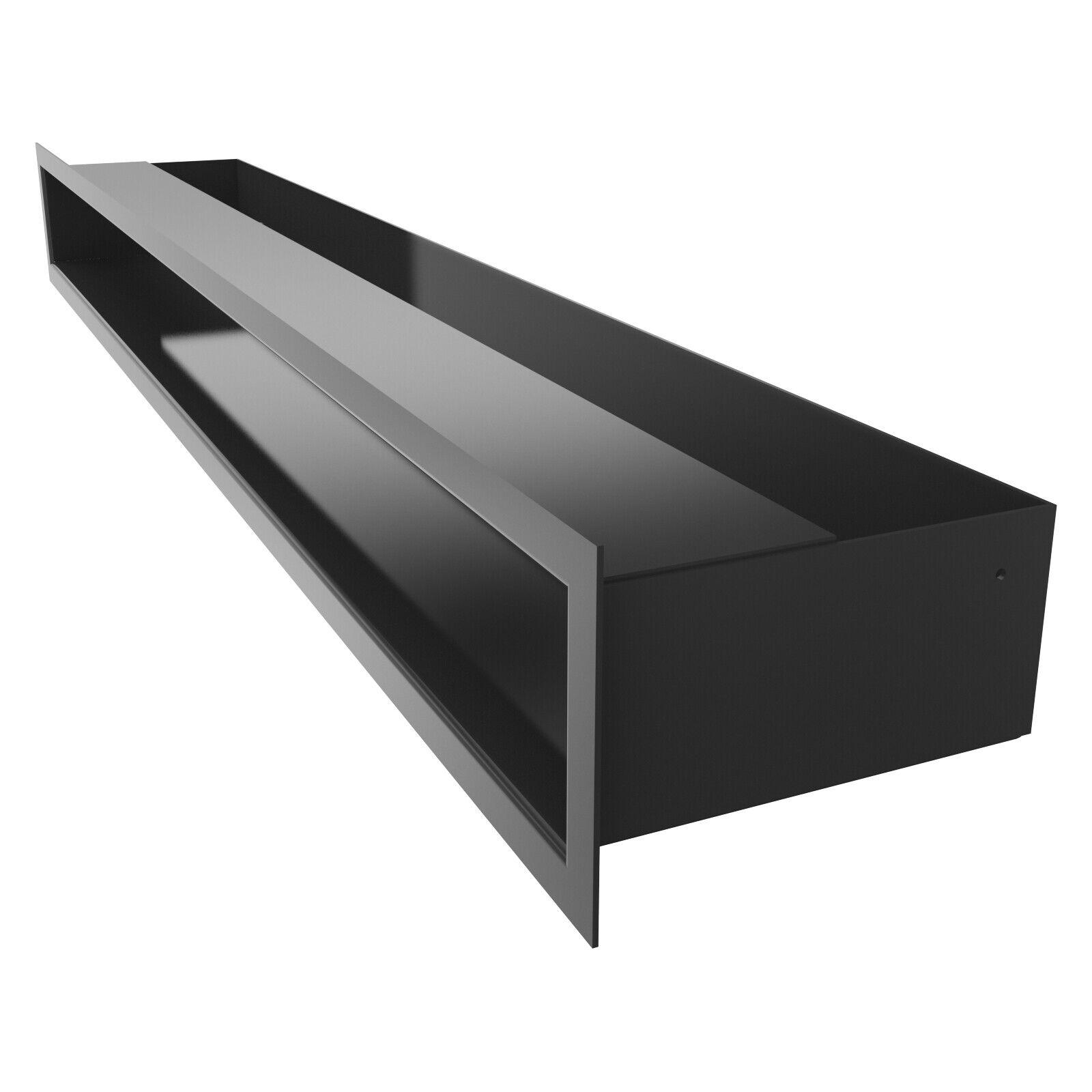 Luftleiste Ventilationsrahmen Lüftungsgitter Kamingitter schwarz 90x800 mm