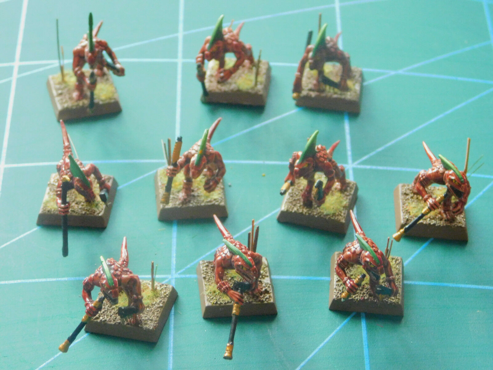 10 warhammer 40k dungeons dragons draconians creatures painted plastic figures