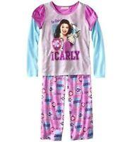 Nickelodeon Icarly 2 Pc Pajama Shirt Pants Set Girl Size S6/6x