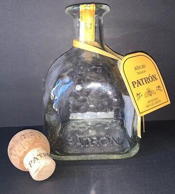 Patron Tequila Empty Bottles Decanters