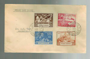 1949-North-Borneo-First-Day-Cover-Local-Use-UPU-Set-Issue