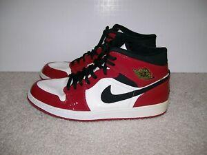 site réputé 7ae3c d8c53 Details about RARE SZ11.5 Nike Air Jordan 1 Chicago Patent Leather  136085-106 Royal Bred IV XI