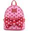 縮圖 1 - Loungefly Disney Minnie Mouse Pink & Red Polka Dot Bow Mini Backpack with Fanny
