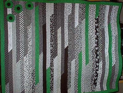 "/""BLACK /& WHITE /& GREEN WITH ENVY/""  Modern Lap quilt kit 51/"" X 64/"""