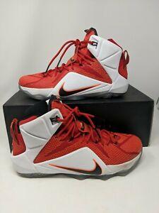 official photos 516a4 18759 Details about Nike LeBron James 12 XII Elite Team University Men's Size 12  Team 724559-618