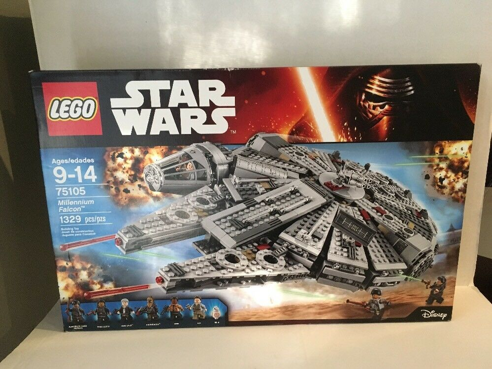LEGO Star Wars Millennium Falcon 75105 Nuovo Retirosso Sealed Mint Box Never Opened