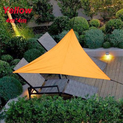 3M 4M Sun Shade Sail Awning Canopy Waterproof UV Block Sunscreen Garden Patio/_