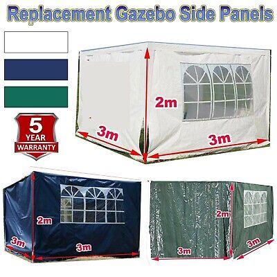 3m X 2m White Pe Gazebo Replacement Exchangeable Sidewalls