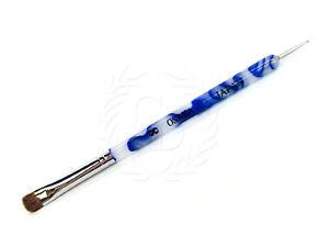 Osaka-French-Gel-Nail-Brush-amp-Dotting-Tool-with-White-Blue-Marble-Handle-Size-8
