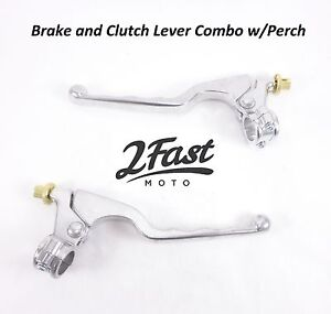 GP-Style-Clutch-Brake-Lever-Set-Combo-with-Perch-Honda-ATV-Dirtbike-Off-Road
