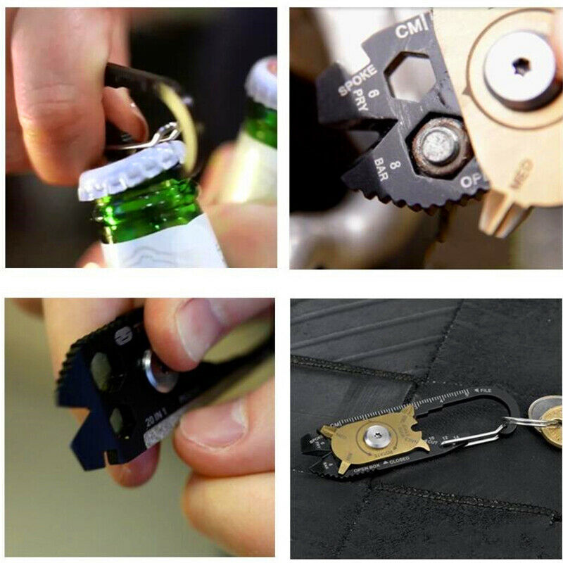 Schlüsselanhänger Karabinerhaken Schlüsselring Edelstahl 9.5cm*2.8cm,PRO Gift