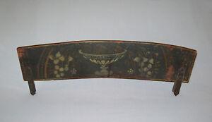 Antique-19th-C-1820s-Windsor-Chair-Crest-Rail-Fragment-Stenciled-Wgt-Iron-Braces