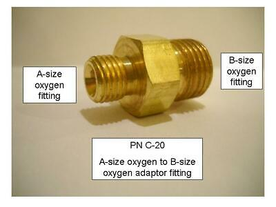"""Superior B-26 RH Oxygen A-size to 1//4/"""" MNPT adapter fitting Western #134"""