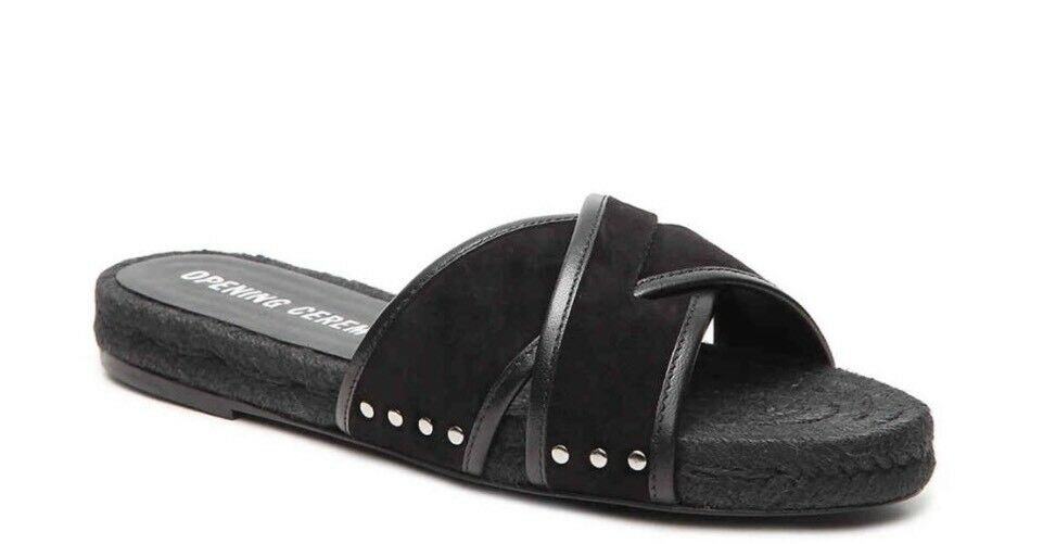 Ceremonia de apertura mujer zapatos Nuevo en Caja Flip Flop Alpargatas Negro
