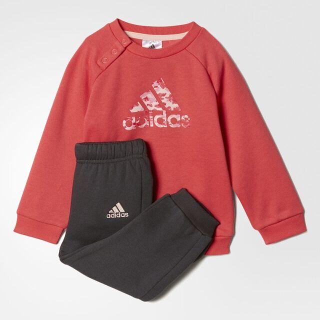 640e7c6d9b4 Adidas Infant Girls Sports Crew Jogger Tracksuit Children Full Set 18-24  months