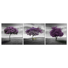 Canvas Print Picture Painting Home Decor Wall Art Landscape Purple Trees Framed