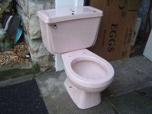 Pink Vintage 1980 S One Flush Gerber Complete Toilet 28
