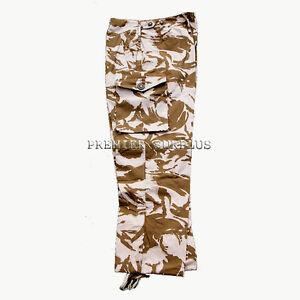 Genuine-British-Army-Desert-Camo-Windproof-Trousers-Pants-NEW-Size-36-39-waist