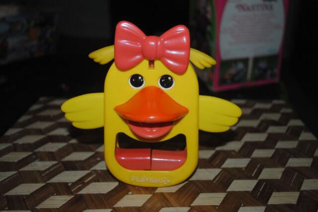 Vintage Playskool Yellow Duck Motion Female Ducky Toy Retro 1972 CUTE Rare