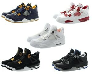 online store 92222 5b724 Details about Nike 308497 Mens Air Jordan 4 Retro High Top Basketball  Athletic Shoes Sneakers