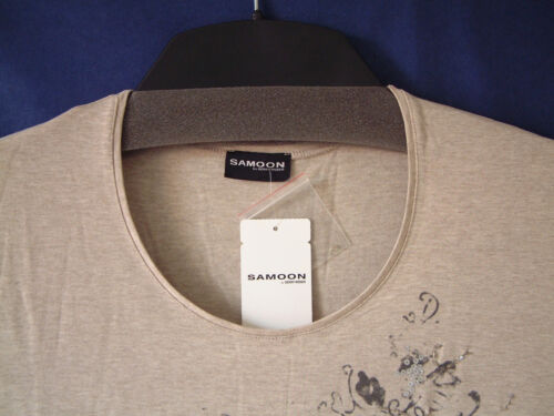 Gr Samoon 52 Damen Shirt Neu Beige Gerry Größe Damenshirt Weber Viskose Stretch vAnvpqrT