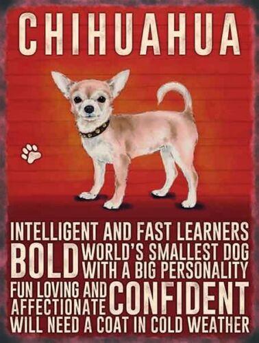 Chihuahua chien animal plaque métal tin signe impression photo les autres races mis en vente 706