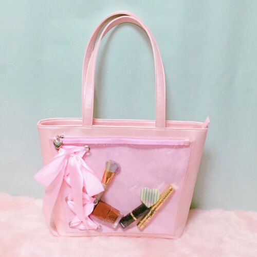 Japanese Anime Shoulder Bag handbag Sweet transparent Itabag Bowknot Lolita