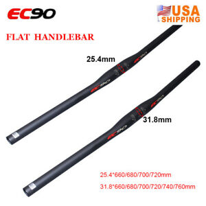 EC90-MTB-Bike-Plat-Riser-Guidon-31-8-25-4mm-Full-Carbon-Fiber-Bar-end-Plugs