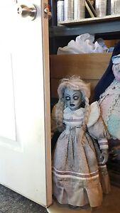 "26"" Haunted house prop doll halloween horror zombie walking dead ghost creepy lg"